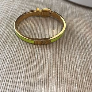 Gold neon bangle bracelet
